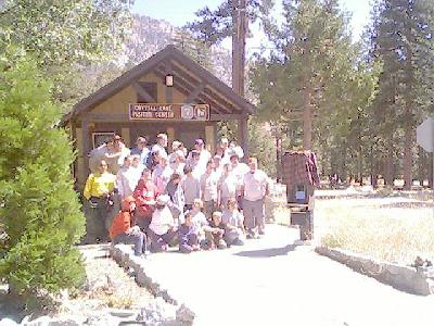 Visitor Center with Boy Scout Troop