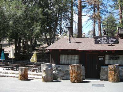 Main parking lot and Cafe / Trading Post